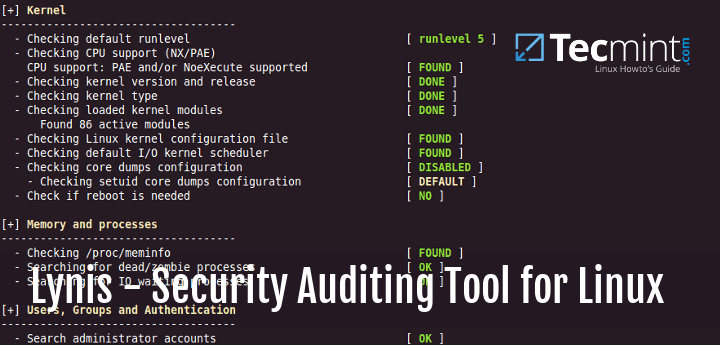 Linux Security Audit