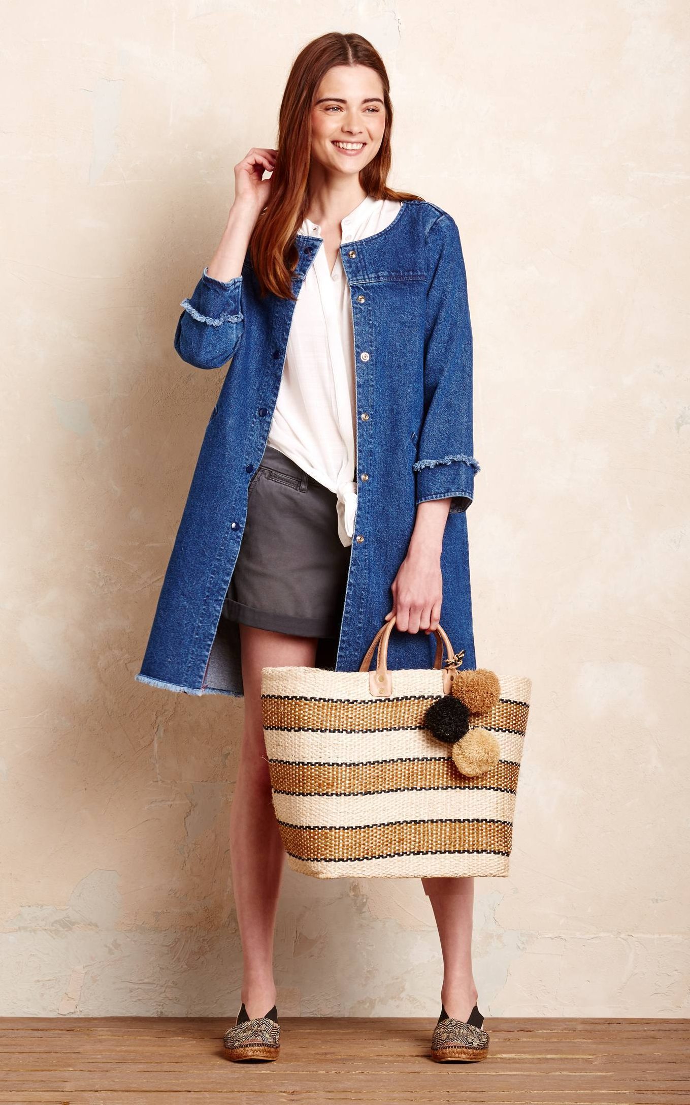 Why you need a 10 piece capsule holiday wardrobe Loup kaila denim jacket      138  Anthropologie