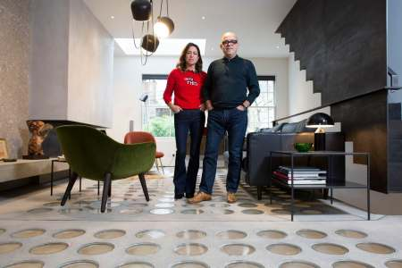 How to get more light into your home with these clever architectural     Mauro and Ashlea Sanna had pavement lights installed in the floor of their  London home to brighten the basement Credit  Jeff Gilbert for the Telegraph