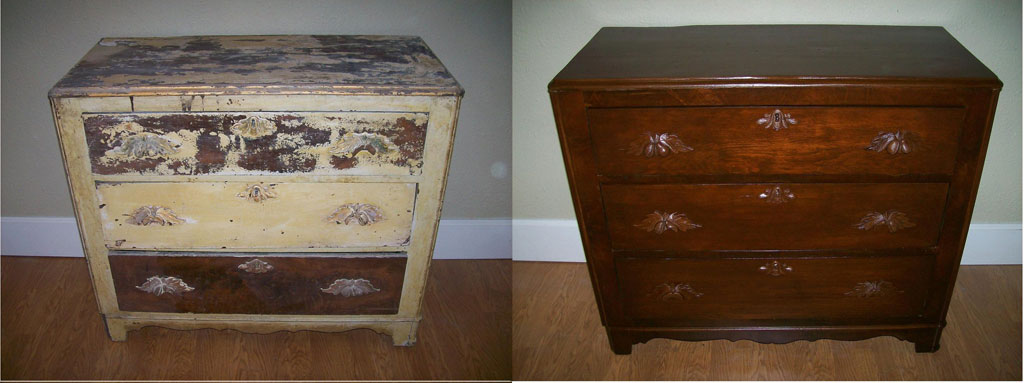 Refinished Furniture And After