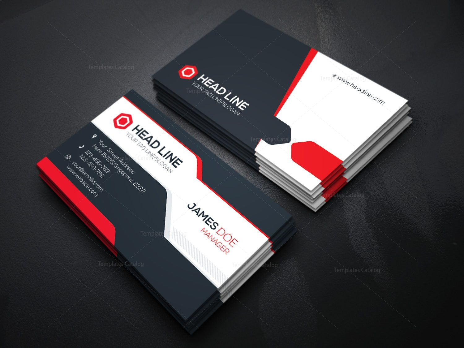 Stylish Visiting Card Template 000085   Template Catalog Stylish Visiting Card Template 2