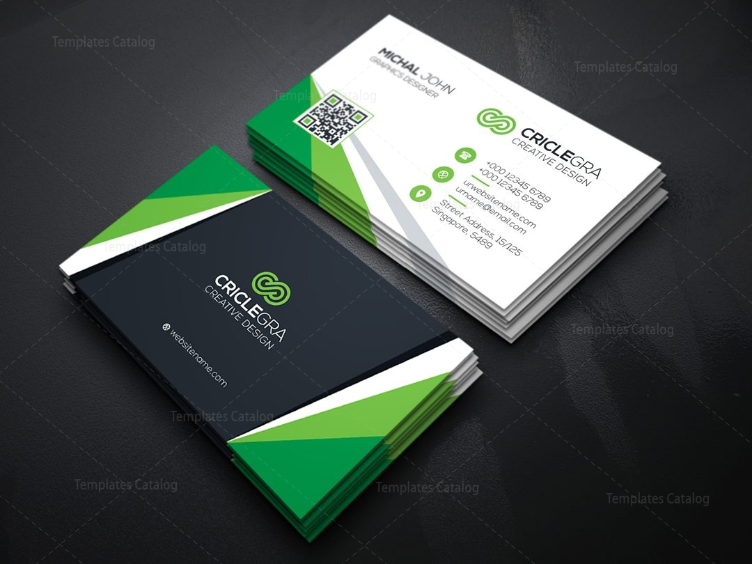 Visiting Card Template 000084   Template Catalog Visiting Card Template 5