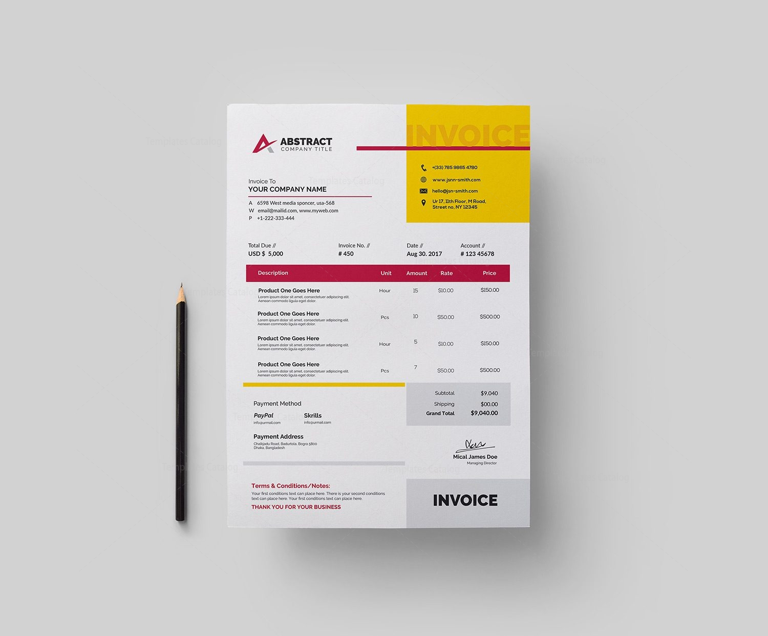 Free Invoice Template 000336   Template Catalog Free Invoice Template 2