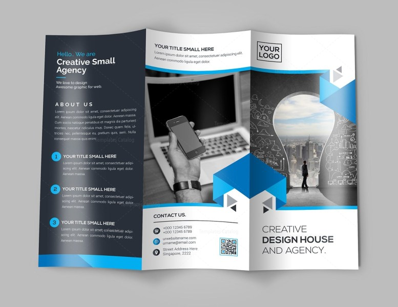 New Idea Tri Fold Brochure Template 000732   Template Catalog New Idea Tri Fold Brochure Template 2