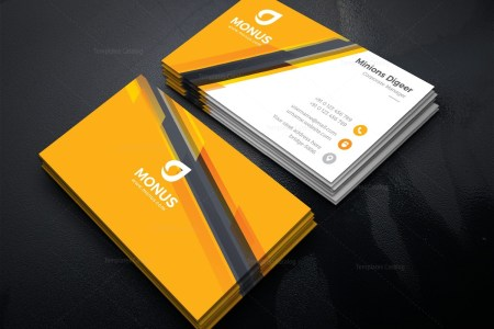 Awesome Corporate Business Card Design Template 001585   Template     Awesome Corporate Business Card Design Template 2