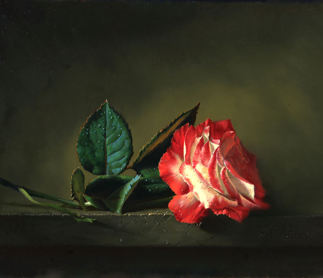 15 Beautiful and Realistic Flower Paintings | Templates ...