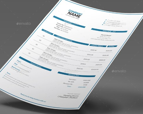 27  Simple Invoice Templates   Free PSD  Sample  Example Downloads Simple Word Invoice Template