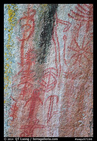 Picture Photo Vivid Red Pictographs Hospital Rock