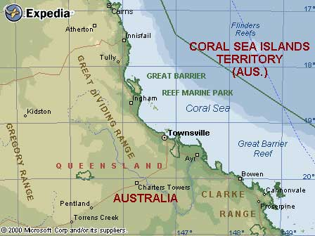 Map Of Great Barrier Reef Area