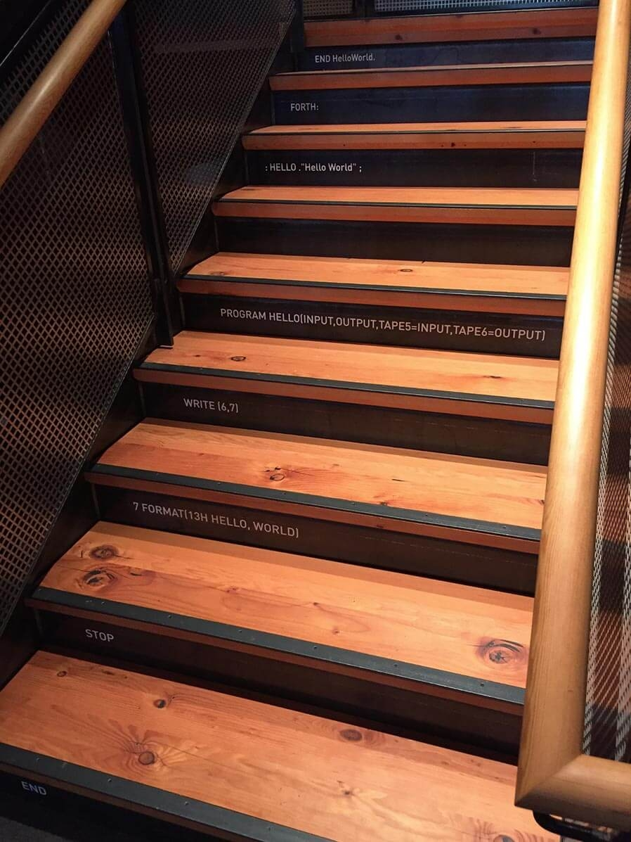 Rethinking The Humble Stair Tread 8 Reclaimed Wood Stair Tread | Thick Wood Stair Treads | Solid Weathered | Baby Blue White Stair | Custom | Prefinished | Glue Laminated