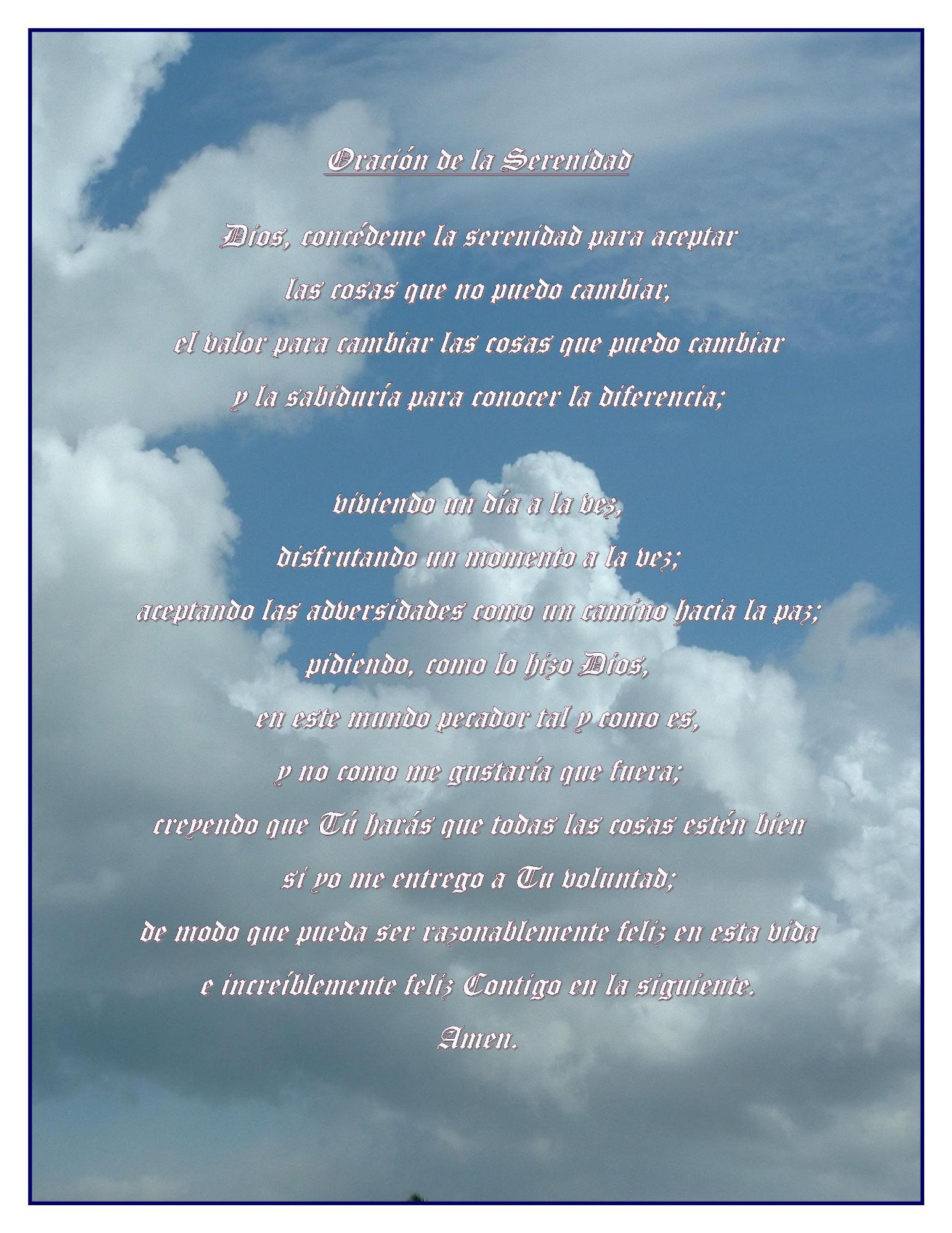 Serenity Prayer Spanish Tattoo