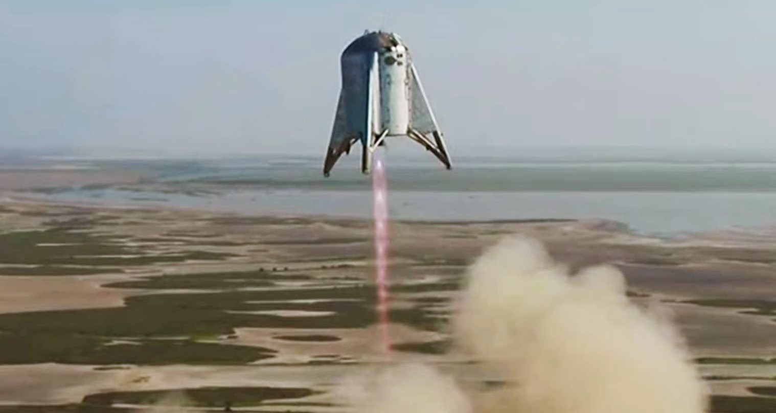 Watch Spacex S Starhopper Hover 500ft Above The Ground In