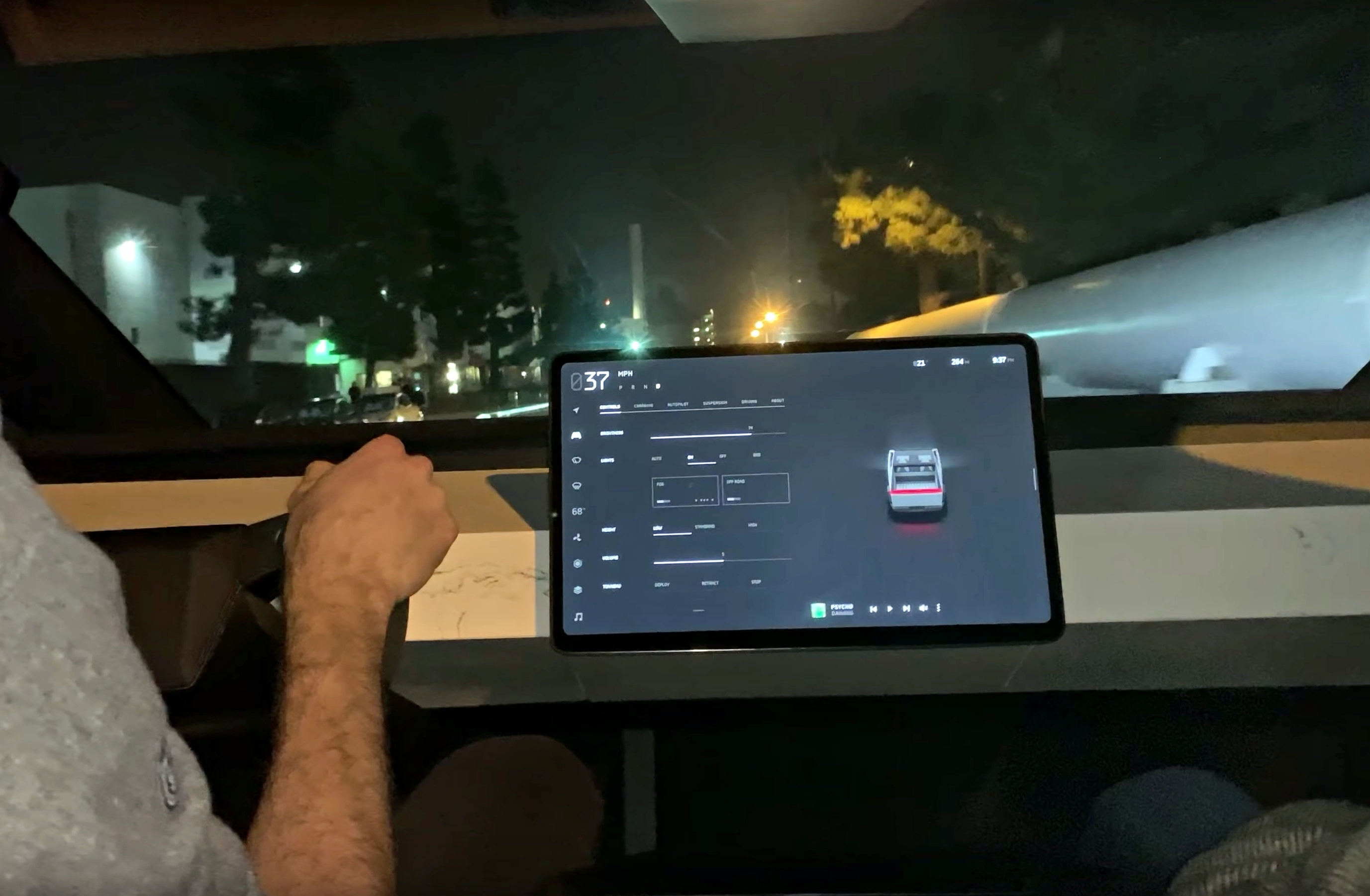 Tesla Cybertruck S Marble Dashboard Is Actually Made