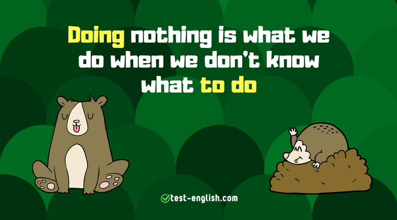Gerund or infinitive – do, to do, doing