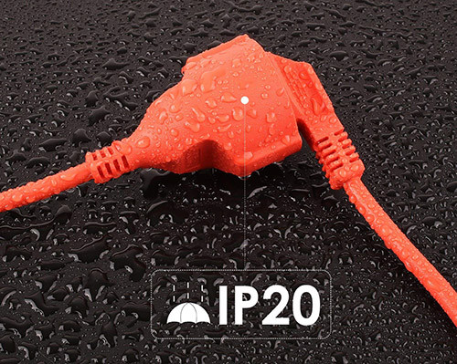 16A 230V IP44 industriel 3 broches 2p e in-line Caravane mâle plug idéal pour extérieur