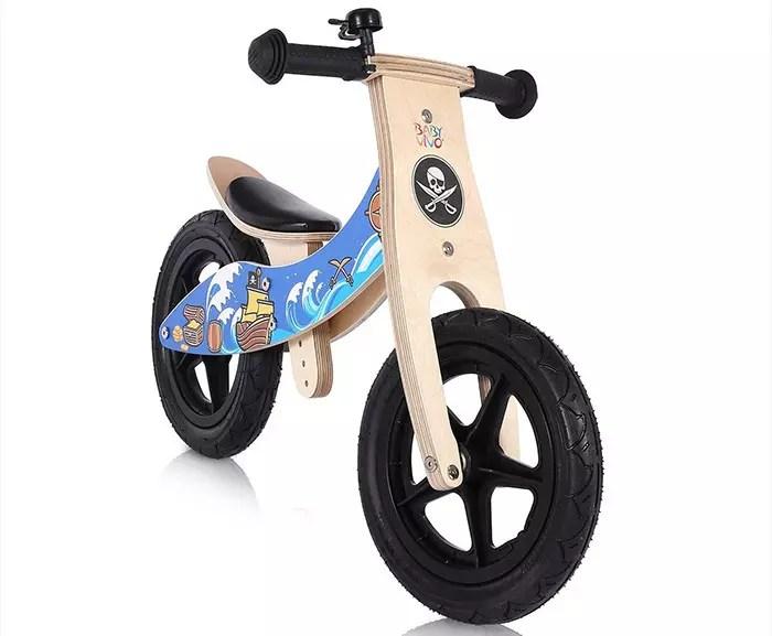 Bicicleta de equilibrio de madera Baby Vivo sin pedales