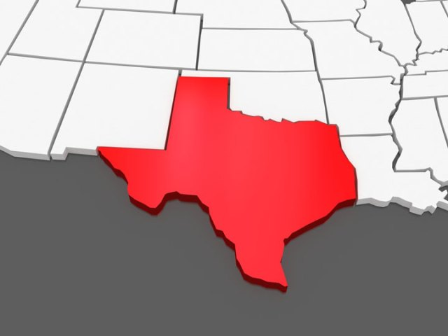 Map of Texas and the Surrounding Region 3d texas map