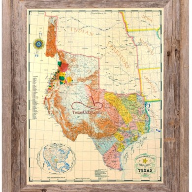 Republic Of Texas Map 1845   Business Ideas 2013 Title