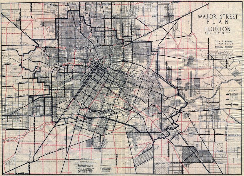 Old Houston Maps   Houston Past 1954     Road map of Houston 1955     Street Topographic Map of Houston