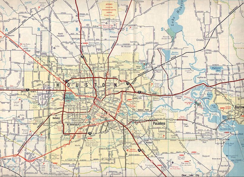 TexasFreeway   Houston   Historical Information   Old Road Maps Medium resolution