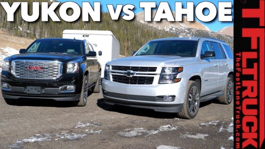 2018 Chevy Tahoe RST vs 2018 GMC Yukon XL  Which 6 2L V8 Is a Better     2018 gmc yukon denali chevy tahoe rst