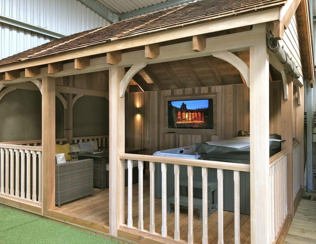 Wooden Gazebo For Hot Tub Tunstall Garden Buildings