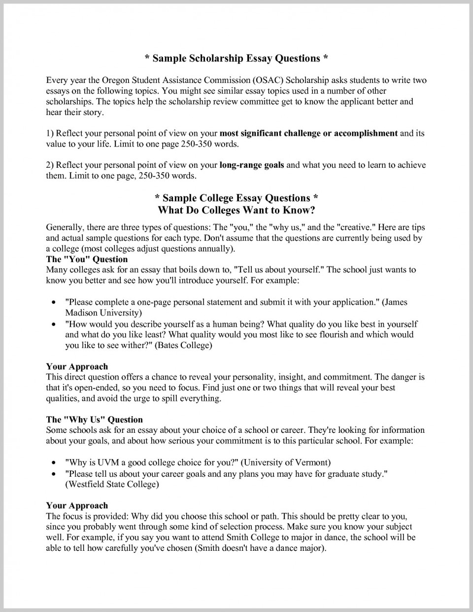 016 Describe Yourself Essay College Personal Statement