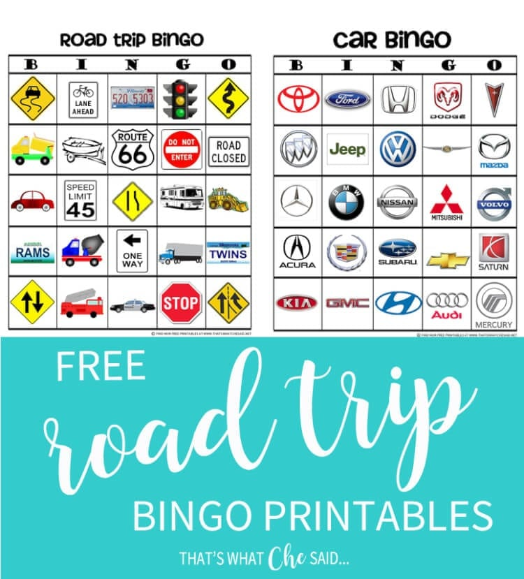 Road Trip Bingo to Keep the Kids Entertained!