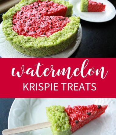 Fun & Fruity Watermelon Rice Krispie Treats!