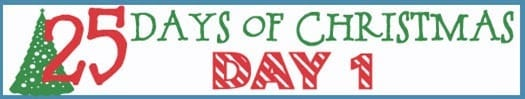 25 Days of Christmas Banner day 1