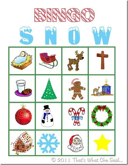 Christmas Bingo Game Free Printable