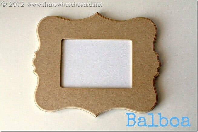 Cut it out Frame Balboa