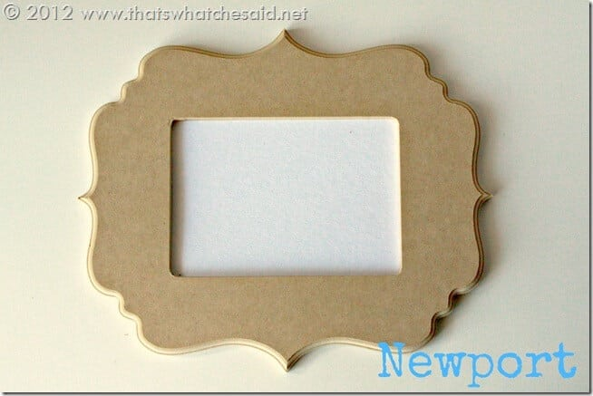 Cut it out frames Newport