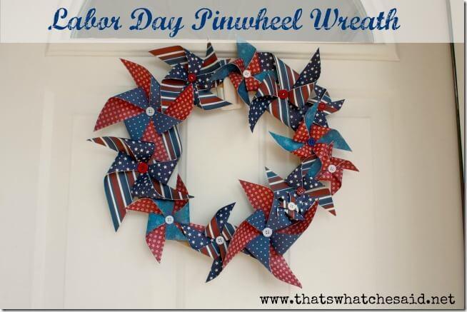 Labor Day Pinwheel Wreath Patriotic