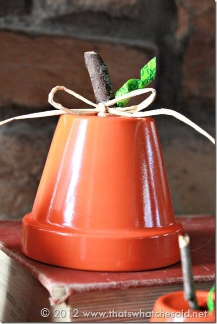 Girl Bow on Pumpkin Pot