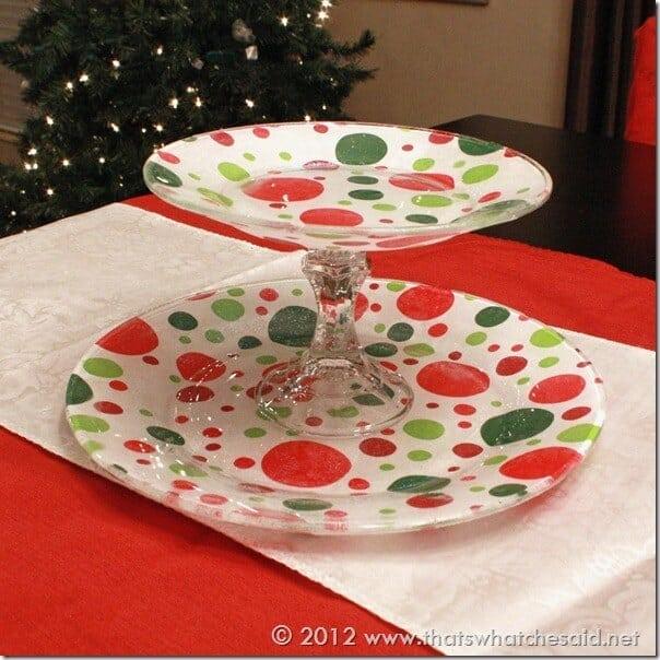 Mod Podge Tiered Plate