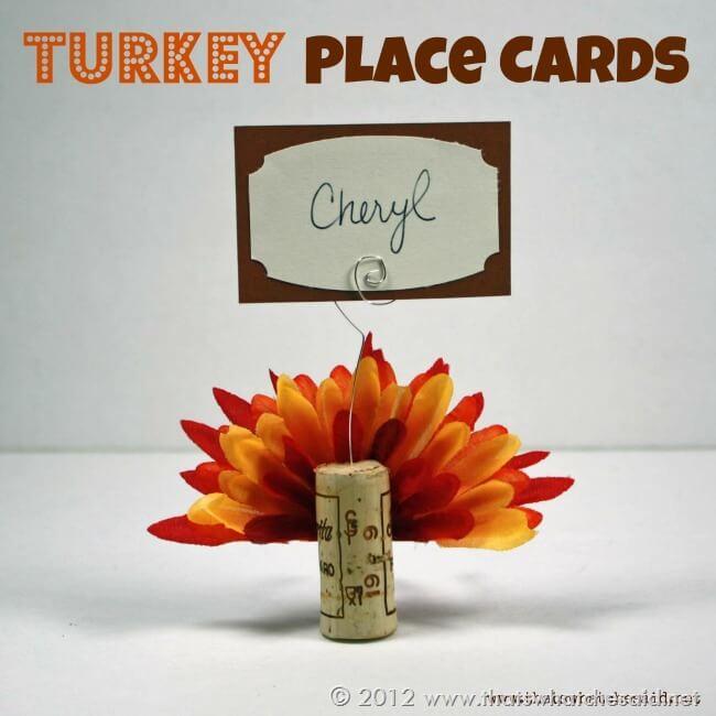 Turkey Place Card Craft Idea