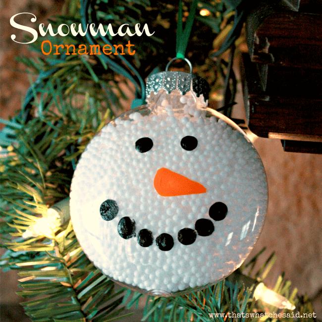 Snowman Ornament Square
