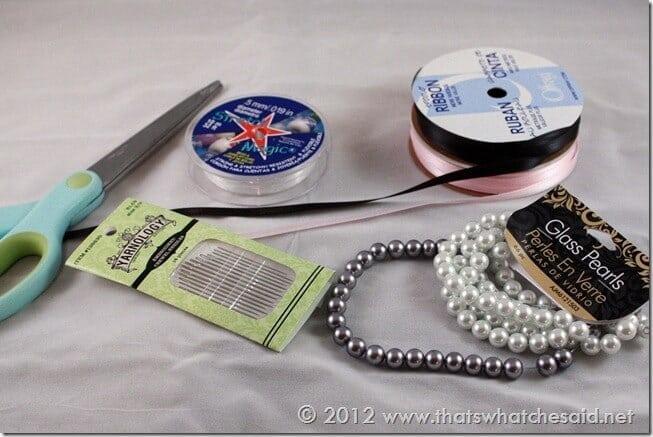 ribbon bracelet supplies