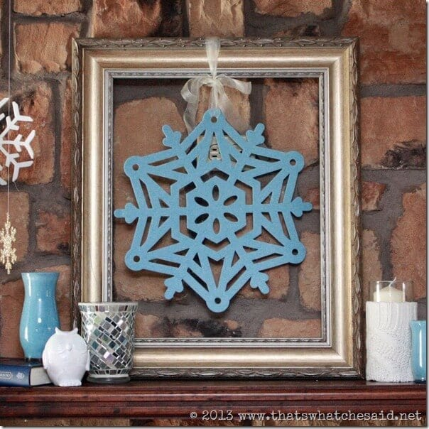 Blue Snowflake in a Frame