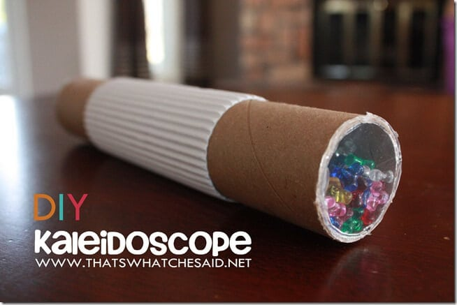 How to Make a DIY Kaleidoscope from Upcycled household materials.