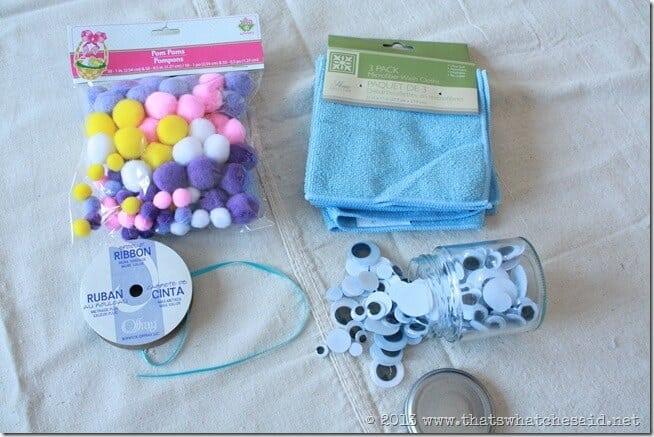 Washcloth Bunny Kid's Craft Idea for Easter or Boo-Boo Bunny!