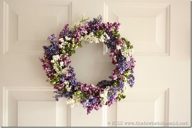 Spring Berry Wreath Finished