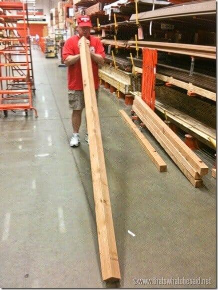 Building a Pergola Checking for Boards straightness digin