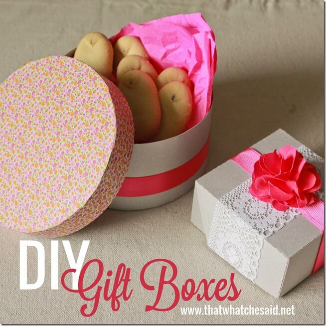 Chipboard DIY Gift Boxes
