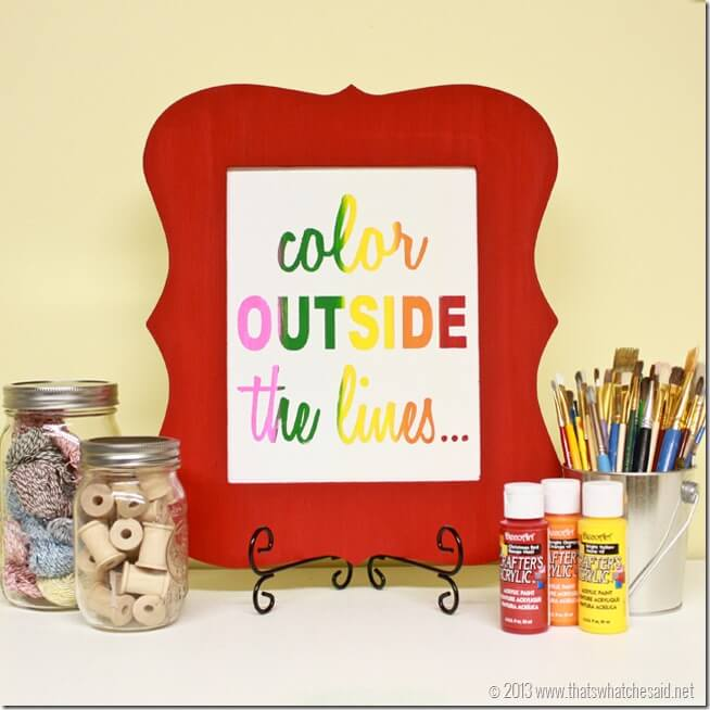Color Outside the Lines Canvas at thatswhatchesaid