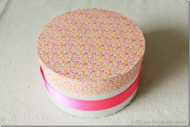 Hat box DIY Giftwrap