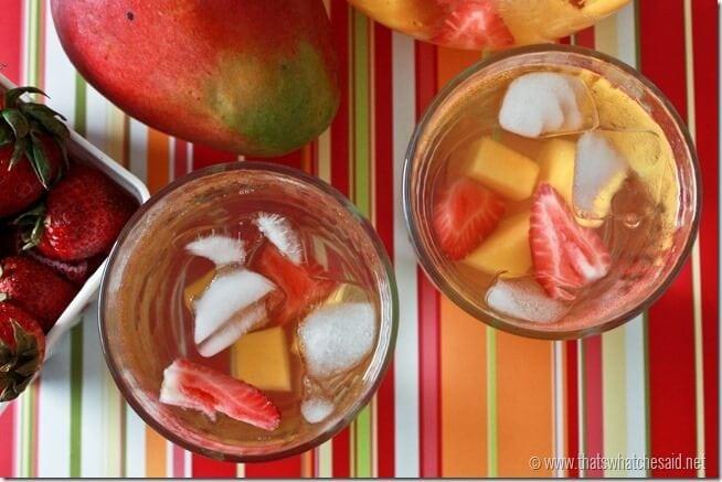 Mango Strawberry Water