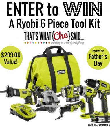 Ryobi Tools Giveaway at thatswhatchesaid.net