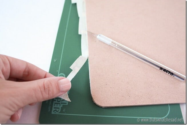 Decorative Clipboard with Duck Tape